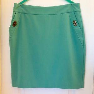 Worthington seafoam green pencil skirt! Sz.6